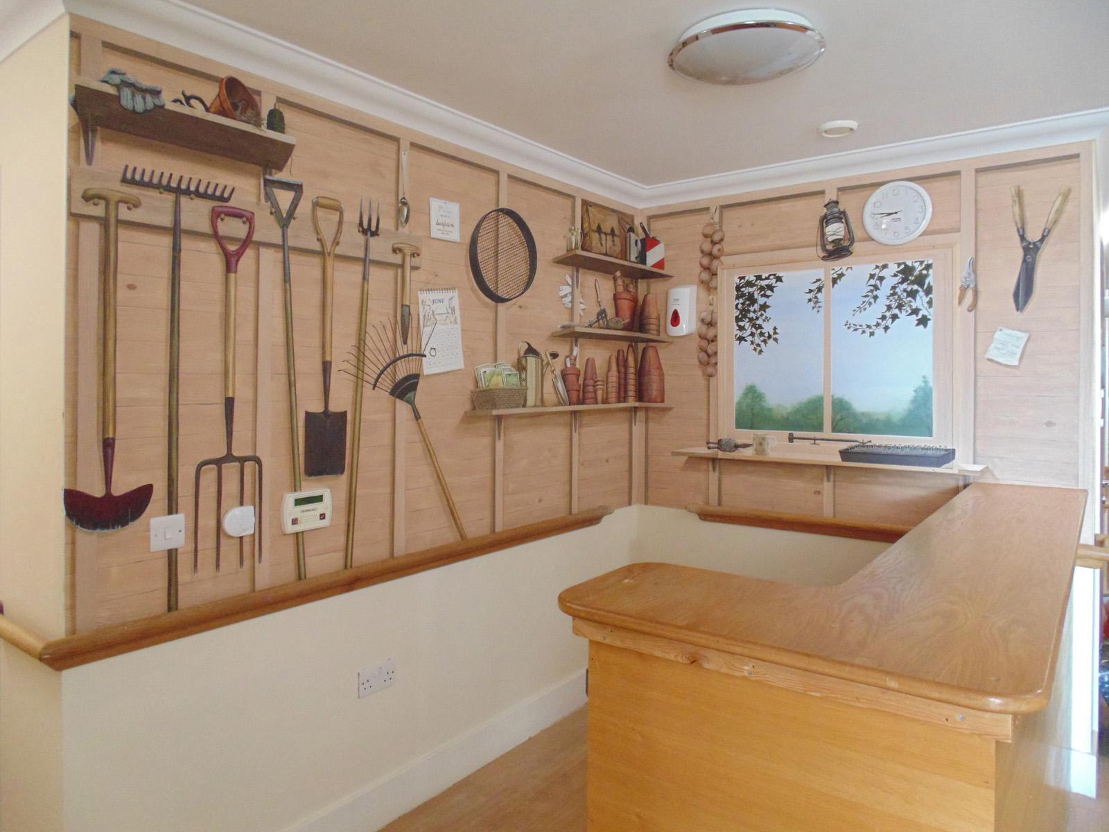 trompe l oeil murals 1. Black Bedroom Furniture Sets. Home Design Ideas