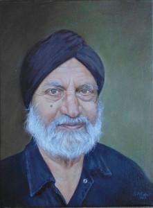 Hardev Singh oil Portrait