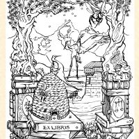 Artwork only Ex Libris