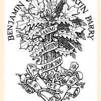 Bookplate with Roots in three lands