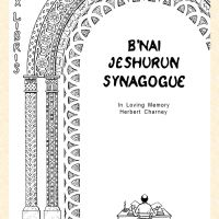 The synagogue is in New York and the plate is based on its architectural details.