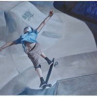 Airing the Hip, oil on canvas