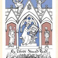 Bookplate for Mediaeval Scholar